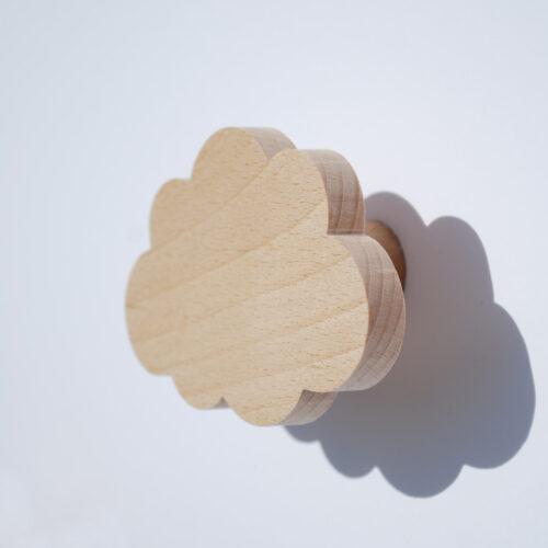 Patère enfant - Patère bois - nuage