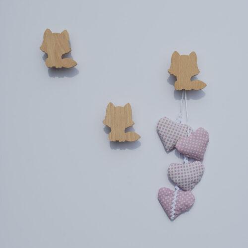Patère enfant - Patère bois - renard